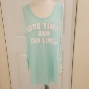 NWT Pink Good Times and Tan Lines Tank Size Large